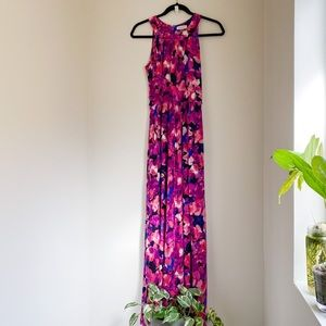 Calvin Klein Dress Floral Halter Dress (Size 8)